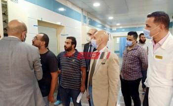 وكيل وزارة الصحة بالشرقية يتفقد أعمال التطوير الجارية بمستشفي الزقازيق العام
