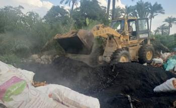محلية كفر البطيخ بدمياط تعلن استمرار حملات إزالة مكامير الفحم المخالفة