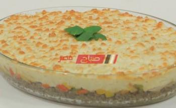 طريقة عمل البطاطس البيورية بالطماطم المجففة وصوص الريحان علي طريقة الشيف سارة عبد السلام