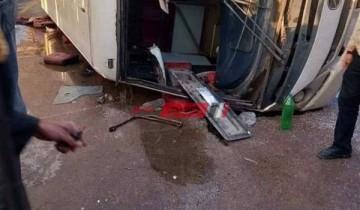 تفاصيل إصابة 24 شخص في حادث تصادم أتوبيس بالإسكندرية