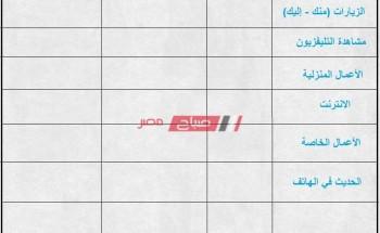 جدول مذاكرة جاهز لتنظيم الوقت للالمام بالمناهج الدراسية قبل الامتحانات 2021