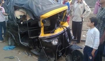 مصرع وإصابة 4 أشقاء جراء سقوط توك توك يستقلونه ببيارة صرف صحى فى إحدى قرى العياط