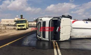 انقلاب سيارة على طريق العوينات و4 إصابات في الوادي الجديد