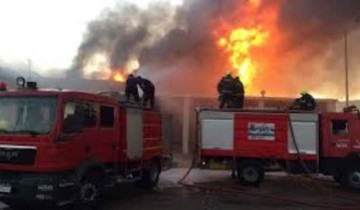 ارتفاع عدد المتوفيين والمصابين فى حريق العبور لـ 35 شخصاً
