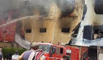 السيطرة على حريق نشب داخل مصنع للفرو الصناعي فى القليوبية