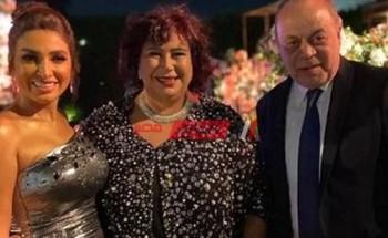 روجينا تهنئ إيناس عبد الدايم بحفل زفاف نجلها