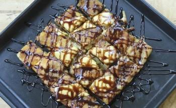 طريقة عمل حلوي الموز بالشوكولاتة والبسكويت علي طريقة الشيف سارة