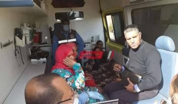 سعادة غارمه تسيطر علي السيدة عزيزة بعد استجابة الرئيس السيسي لطلبها