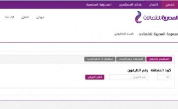 المصرية للاتصالات رابط الاستعلام عن فاتورة التليفون الأرضي يناير 2021