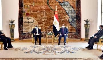 """السيسي يبحث ملف سد النهضة مع رئيس """"ناميبيا"""" السابق"""