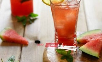 خطوات عمل مشروب موهيتو البطيخ فى المنزل بطعم مميز كالكافيهات