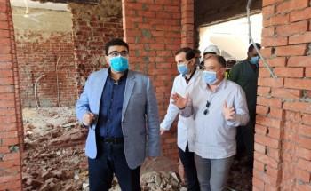 متابعة لفعاليات رفع كفاءة شبكة الصرف الصحي بمستشفى الصدر والحميات ببنى سويف