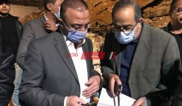 بالصور محافظ الإسكندرية يتابع استخراج 9 أشخاص مفقودين أسفل عقار محرم بك المنهار