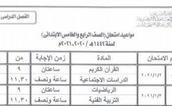 جدول امتحانات الأزهر المرحلة الابتدائية قطاع المعاهد الأزهرية رسمياً