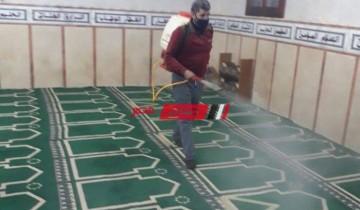 شن حملات تعقيم وتطهير المساجد اليوم قبل وبعد آداء الصلاة بمحافظة البحيرة