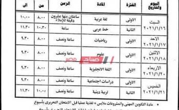 الترم الأول جدول امتحانات الصف الرابع الابتدائي 2021 جميع محافظات الجمهورية بالمواعيد الرسمية