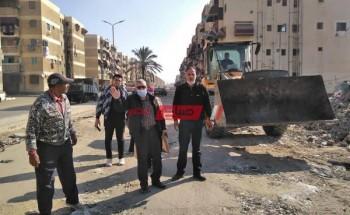 جولة تفقدية للسكرتير العام بمحافظة بورسعيد واجتماع لمتابعة مشروعات الصرف الصحي