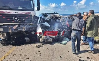 إصابة 9 أشخاص إثر حادث تصادم مروع فى مطروح