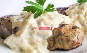 طريقة عمل شرائح ستيك اللحم بصوص الزبدة والمشروم على طريقة الشيف محمد حامد