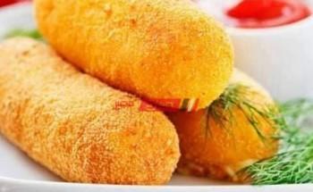 طريقة عمل كروكيت البطاطس بالجبن الموزاريلا في خطوة واحدة للمبتدئين