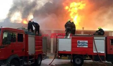 تحويل 10 مصابين فى حريق العبور لمستشفى بلبيس بالشرقية
