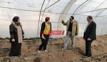 وكيل زراعة دمياط فى جولة تفقدية لزراعات الصوب المقامة بالمديرية والتابعة لإتحاد المجالس الزراعية بدمياط