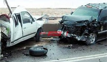 إصابة 4 مواطنين إثر حادث تصادم بين سيارتين طريق بورسعيد الإسماعيلية