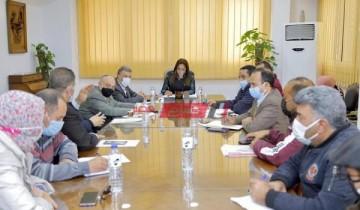 محافظ دمياط ترأس إجتماعًا لمتابعة المحاور التنفيذية بمشروع تطوير كورنيش النيل