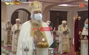 البابا تواضرس الثانى يقيم  قداس عيد الغطاس بكنيسة البابوى بالإسكندرية