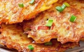 طريقة عمل قرص البطاطس الكرسبي بالبروكلي والجزر والجبن الشيدر علي طريقة الشيف زينب مصطفي