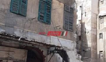 بالأسماء إصابة شخصين في انهيار عقار بمحافظة الإسكندرية