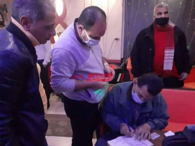 تحصيل غرامات مالية للمخالفين لإجراءات فيروس كورونا المستجد في الإسكندرية