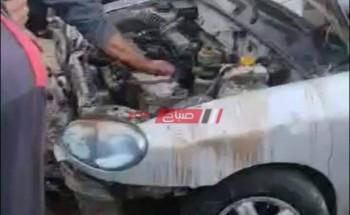 إصابة ضابط شرطة إثر حادث انقلاب سيارته فى كفر الشيخ