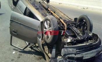 إصابة شخص فى حادث انقلاب سيارة ملاكى فى الشرقية