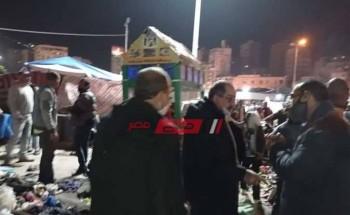 حي وسط يشن حملات مكبرة لإزالة اشغالات ميدان محطة مصر بمحافظة الإسكندرية