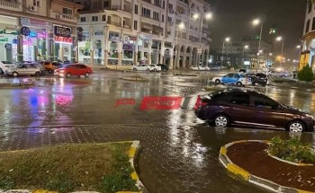 استمرار سقوط الأمطار في دمياط مع رفع درجة الاستعداد القصوى