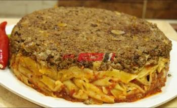 طريقة عمل طاجن المكرونة باللحم المعصج وصوص الطماطم على طريقة الشيف محمد حامد