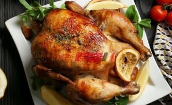 طريقة عمل دجاج مشوي بالليمون والنعناع