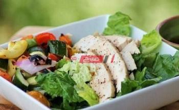 طريقة عمل سلطة الدجاج بالخضروات الصحية