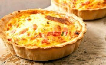 طريقة عمل كيش لورين بشرائح البيبرونى مع الخضروات والجبن الشيدر على طريقة الشيف محمد حامد