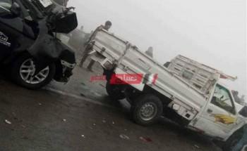 إصابة 4 مواطنين جراء حادث تصادم مرورى طريق القاهرة الإسكندرية