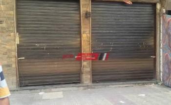 غلق 3 محلات مخالفة لإجراءات فيروس كورونا بحي وسط في الإسكندرية