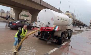 محافظة دمياط : فرق وأطقم مجابهة الأزمات تواصل العمل للحد من آثار موجة الأمطار
