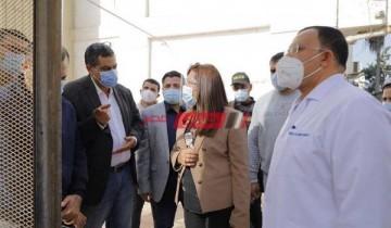 محافظ دمياط فى زيارة تفقدية الى مستشفى دمياط العام لمتابعة إجراءات التعامل مع أزمة كورونا