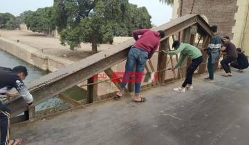 وزارة السياحة تباشر أعمال ترميم وصيانة كوبري محمد علي في القليوبية