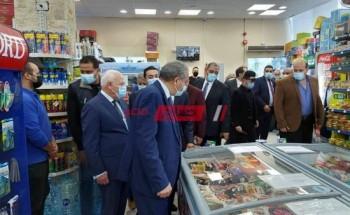 من خلال زيارته لمحافظة بورسعيد وزير التموين يتفقد سوق بورفؤاد الحضاري الجديد