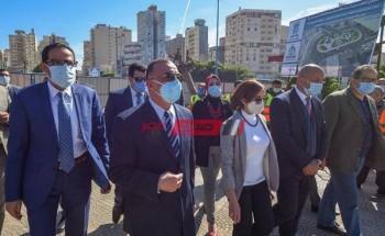 محافظ الإسكندرية يتفقد البدء في أعمال تطوير ميدان محطة مصر