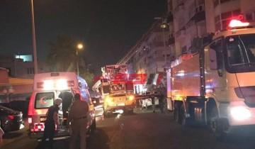 إصابة 6 أشخاص بإختناق جراء حريق بمنزل بكفر شكر