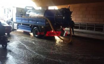 استمرار اعمال رفع تراكمات مياة الامطار بمحافظة القليوبية
