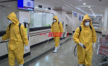 القوات المسلحة تتابع عمليات تطهير المنشآت للوقاية من فيروس كورونا